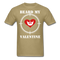 Beard My Valentine Men's T-Shirt - khaki
