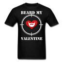 Beard My Valentine Men's T-Shirt - black
