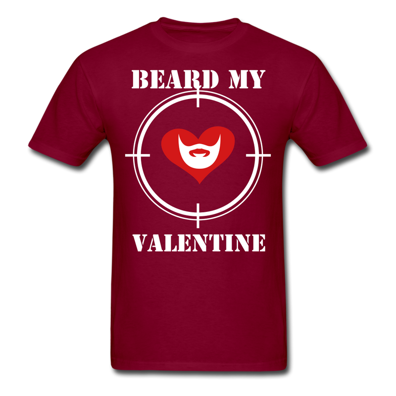 Beard My Valentine Men's T-Shirt - burgundy