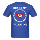 Beard My Valentine Men's T-Shirt - royal blue