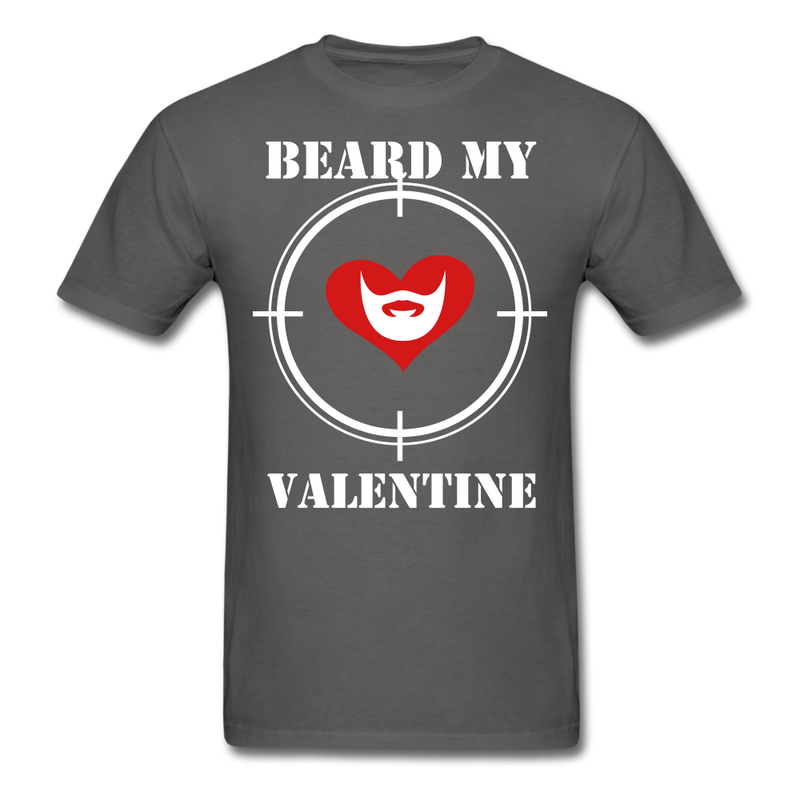 Beard My Valentine Men's T-Shirt - charcoal