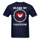 Beard My Valentine Men's T-Shirt - navy