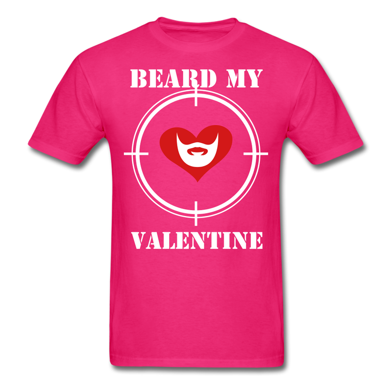 Beard My Valentine Men's T-Shirt - fuchsia
