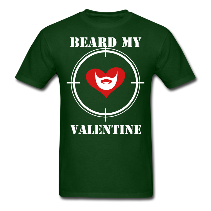 Beard My Valentine Men's T-Shirt - forest green