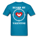Beard My Valentine Men's T-Shirt - turquoise