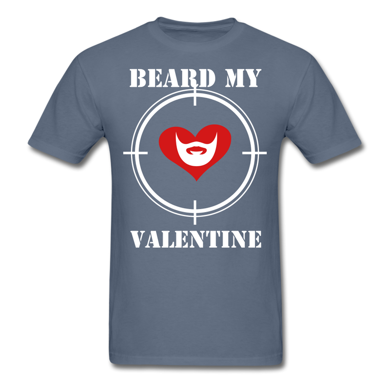 Beard My Valentine Men's T-Shirt - denim
