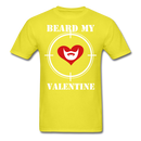 Beard My Valentine Men's T-Shirt - yellow