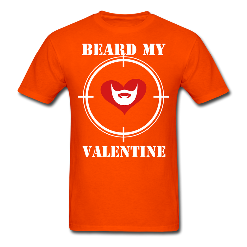 Beard My Valentine Men's T-Shirt - orange