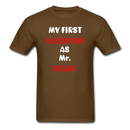 My Valentine As Mr. Beard Men's T-Shirt - brown