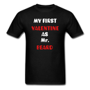 My Valentine As Mr. Beard Men's T-Shirt - black