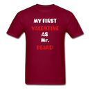 My Valentine As Mr. Beard Men's T-Shirt - burgundy