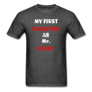 My Valentine As Mr. Beard Men's T-Shirt - heather black