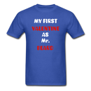 My Valentine As Mr. Beard Men's T-Shirt - royal blue