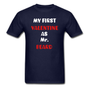 My Valentine As Mr. Beard Men's T-Shirt - navy