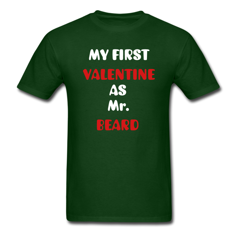 My Valentine As Mr. Beard Men's T-Shirt - forest green