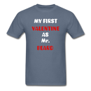 My Valentine As Mr. Beard Men's T-Shirt - denim