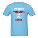 My Valentine As Mr. Beard Men's T-Shirt - aquatic blue