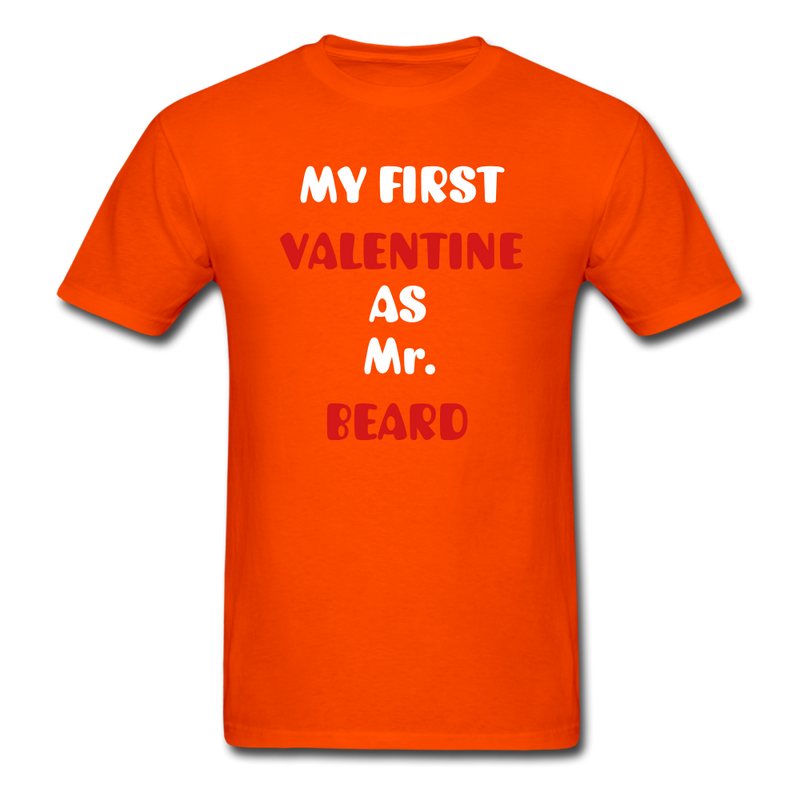 My Valentine As Mr. Beard Men's T-Shirt - orange