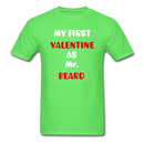 My Valentine As Mr. Beard Men's T-Shirt - kiwi