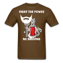 Fight The Power, No Shaving Men's T-Shirt - brown