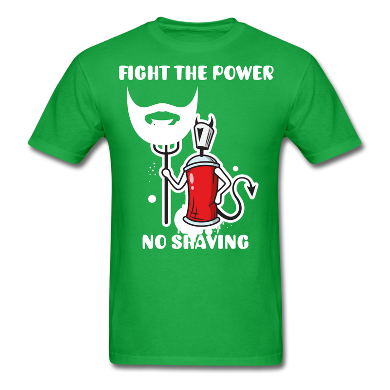 Fight The Power, No Shaving Men's T-Shirt - bright green