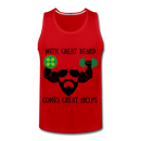 Men's Premium Tank With Great Beard Comes Great Biceps - BeardedMoney