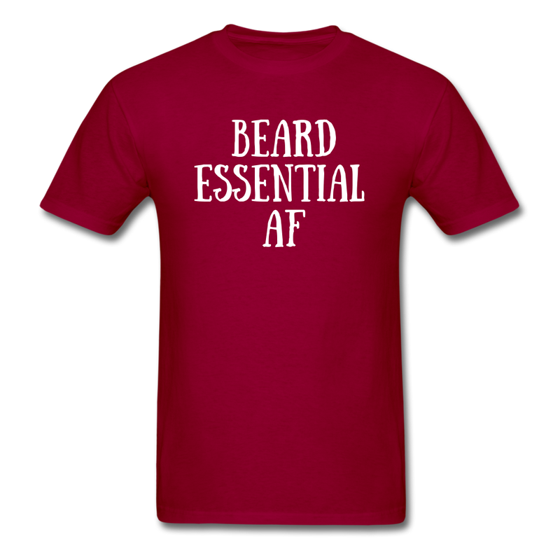 Beard Essential AF Men's T-Shirt - dark red