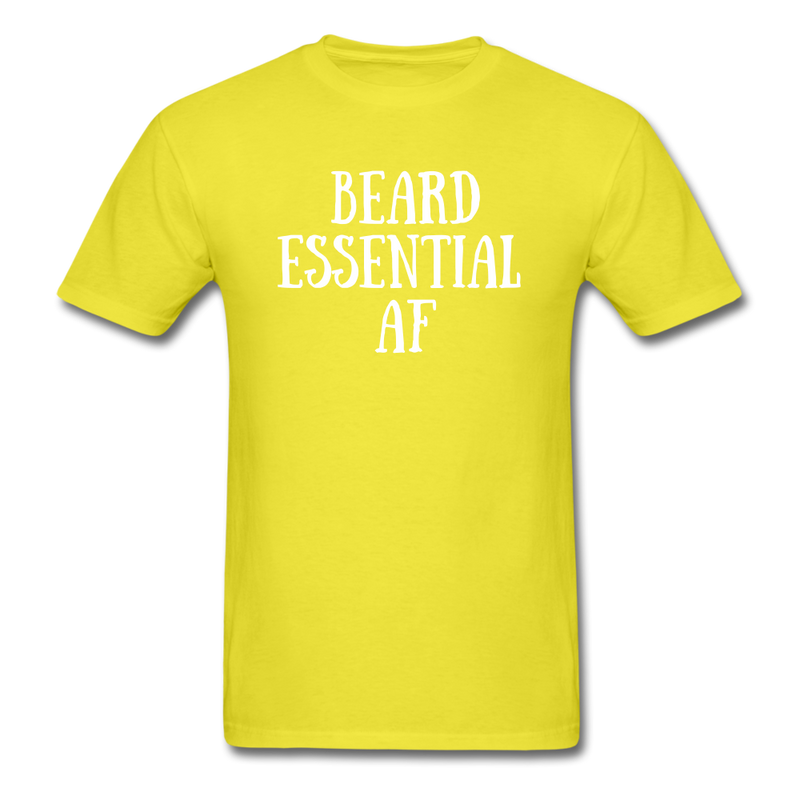 Beard Essential AF Men's T-Shirt - yellow