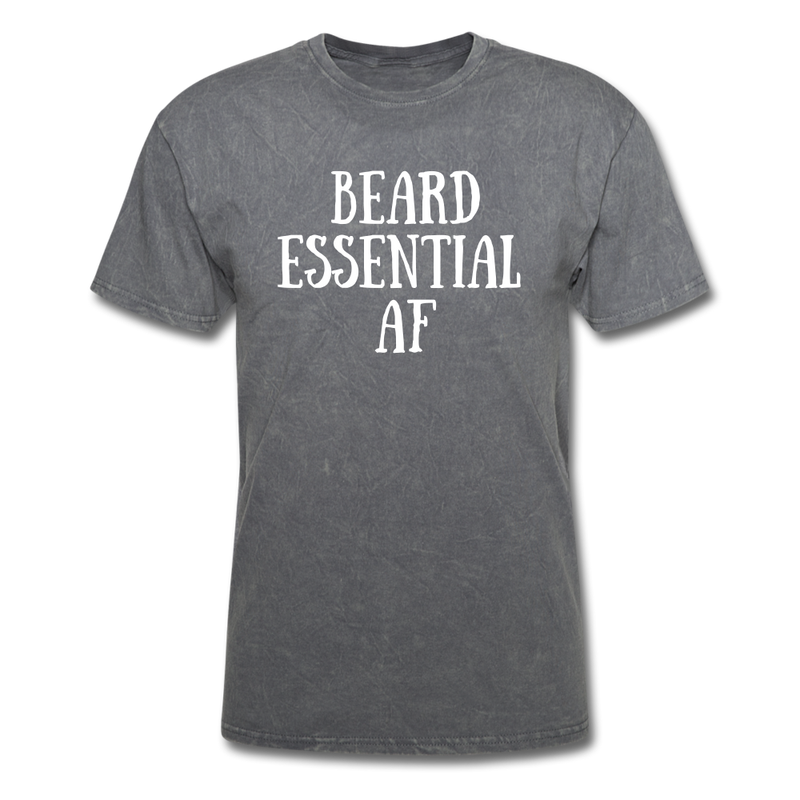 Beard Essential AF Men's T-Shirt - mineral charcoal gray