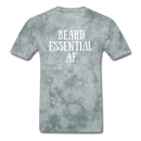 Beard Essential AF Men's T-Shirt - grey tie dye