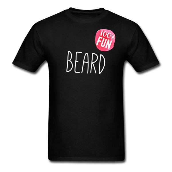 100% Fun Beard Men's T-Shirt - black