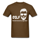 DILF Devoted Involved Loving Father Men's T-Shirt - brown