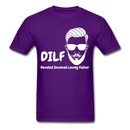 DILF Devoted Involved Loving Father Men's T-Shirt - purple