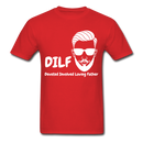 DILF Devoted Involved Loving Father Men's T-Shirt - red