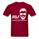 DILF Devoted Involved Loving Father Men's T-Shirt - dark red