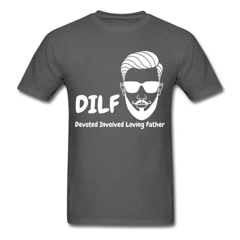 DILF Devoted Involved Loving Father Men's T-Shirt - charcoal