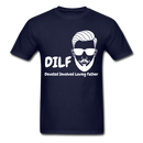 DILF Devoted Involved Loving Father Men's T-Shirt - navy