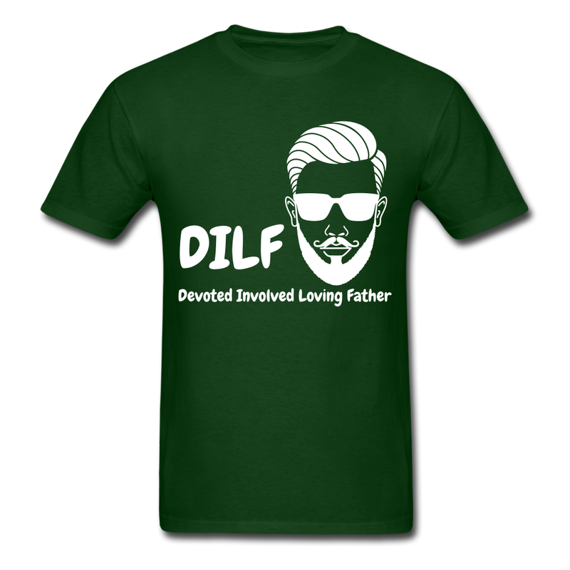DILF Devoted Involved Loving Father Men's T-Shirt - forest green