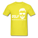 DILF Devoted Involved Loving Father Men's T-Shirt - yellow