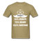 30% Donuts, 70% Beard, 100 Awesome Men's T-Shirt - khaki