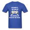 My Beard Is The King Of The Controller, Ruler Of the Couch Men's T-Shirt - royal blue