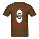 Mullets Are Bad, Beards Are Cool Men's T-Shirt - brown