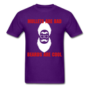 Mullets Are Bad, Beards Are Cool Men's T-Shirt - purple