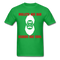 Mullets Are Bad, Beards Are Cool Men's T-Shirt - bright green
