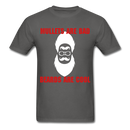 Mullets Are Bad, Beards Are Cool Men's T-Shirt - charcoal