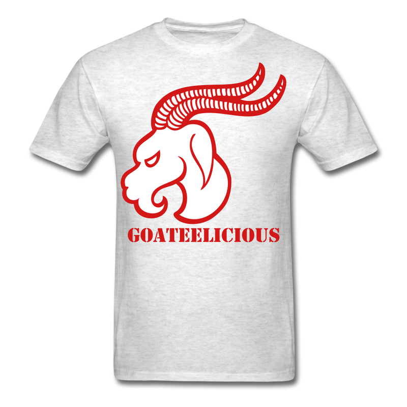 Goateelicious Men's T-Shirt - light heather gray