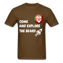 Come And Explore The Beard Men's T-Shirt - brown