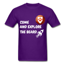 Come And Explore The Beard Men's T-Shirt - purple
