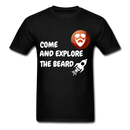 Come And Explore The Beard Men's T-Shirt - black