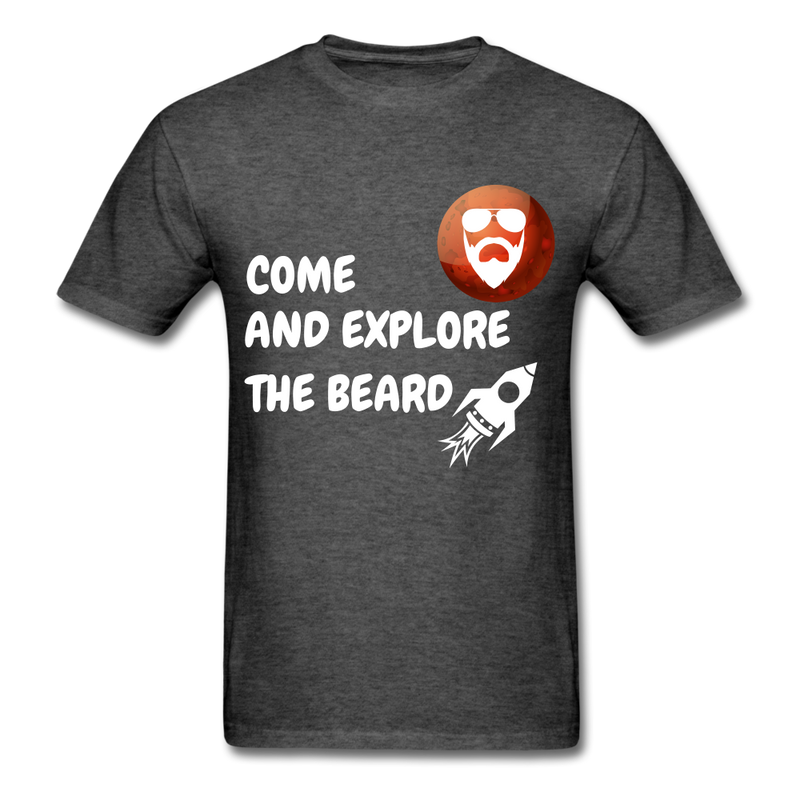 Come And Explore The Beard Men's T-Shirt - heather black